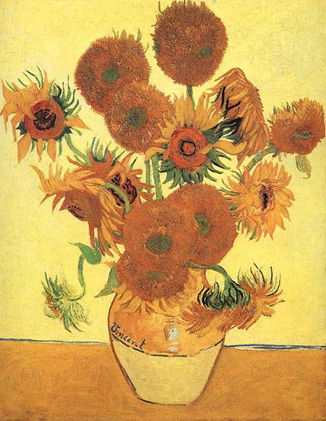 Van Gogh Ayçiçekleri tablosu